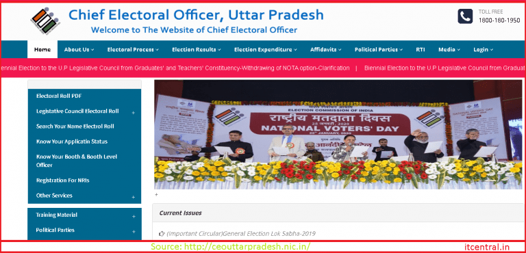 up voters list